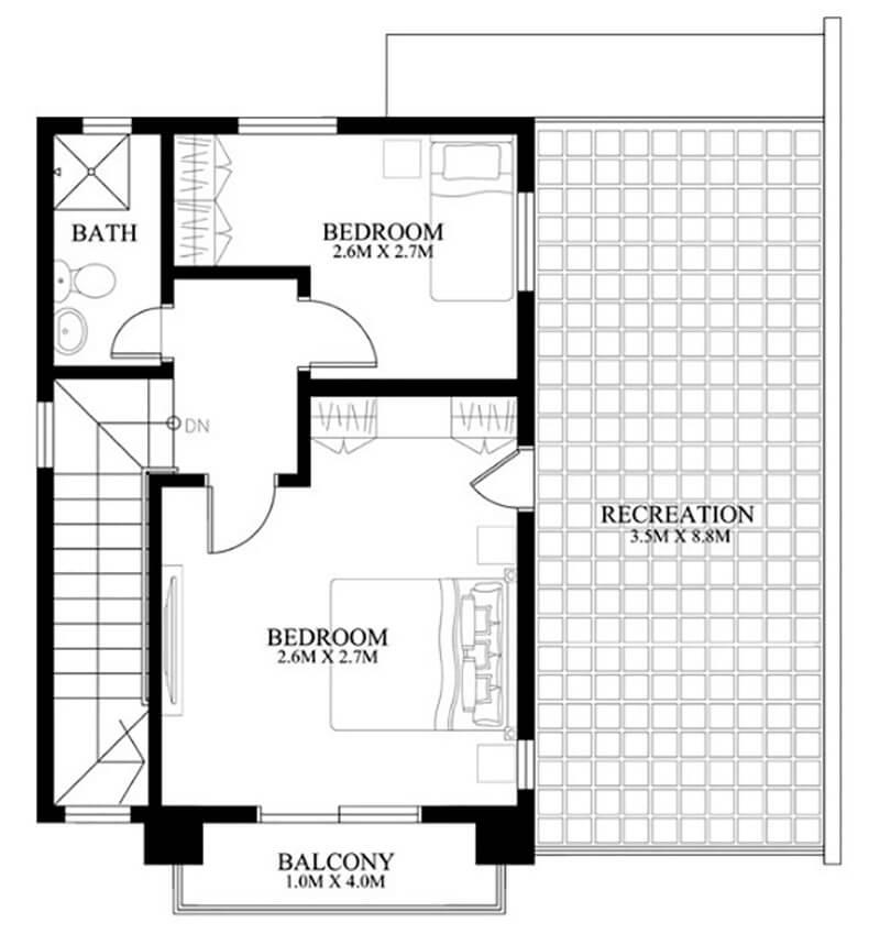Mẫu thiết kế nhà vuông 8x8m 2 tầng