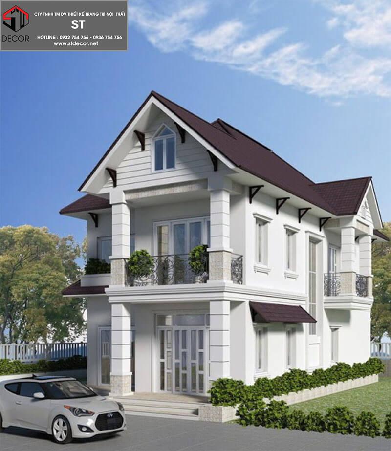 Mẫu thiết kế nhà 2 tầng 8x12m
