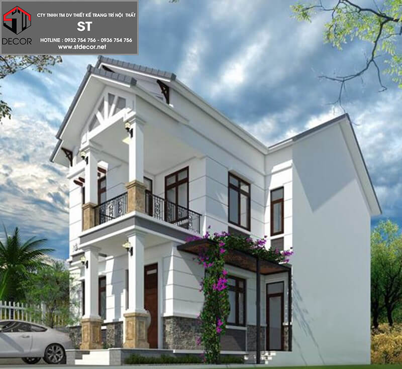 Mẫu thiết kế nhà đẹp 7x18m