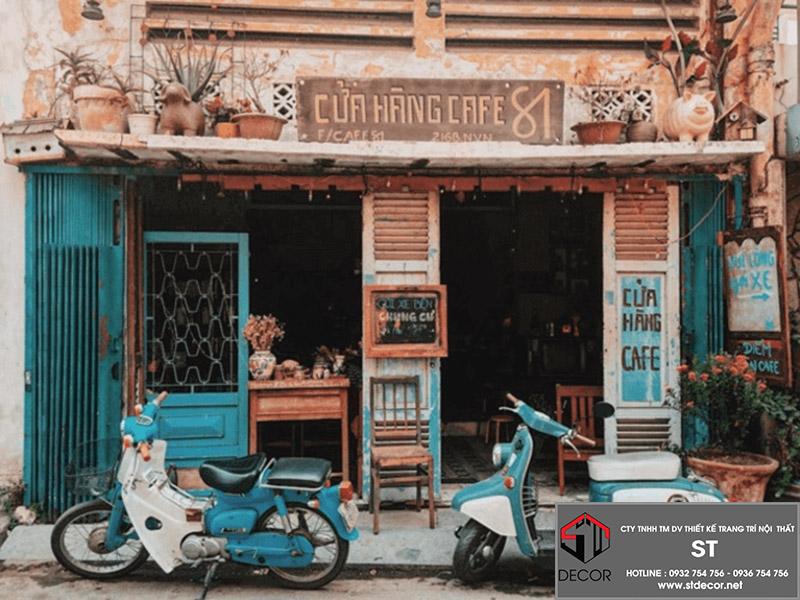thiết kế quán cà phê đẹp rẻ