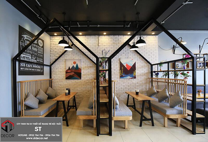 Các kiểu thiết kế quán cà phê
