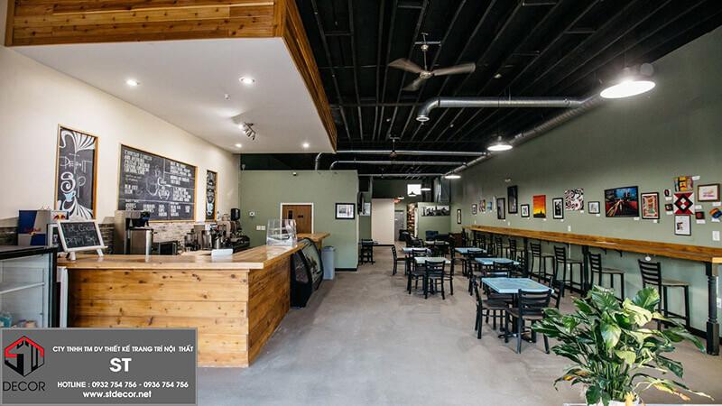 Chi phí thiết kế 1 quán cafe