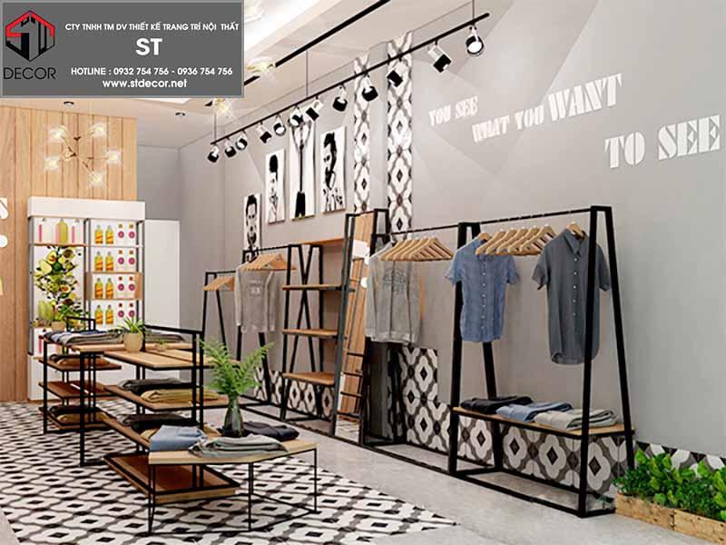 cách thiết kế shop quấn áo thời trang