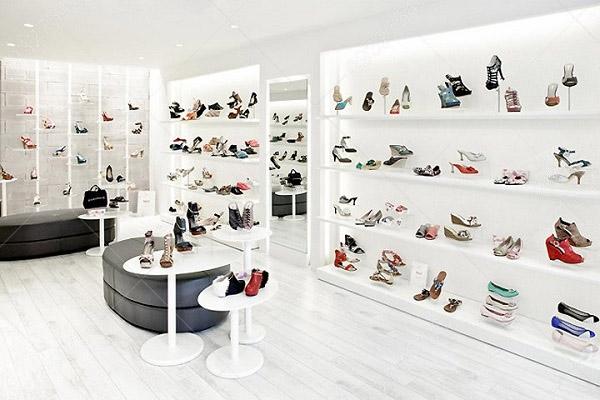 mẫu thiết kế shop giày dép