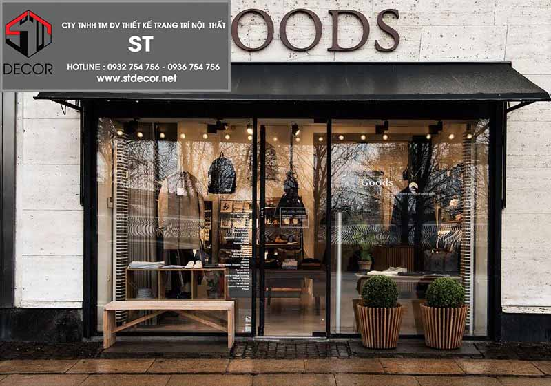 thiết kế cửa shop thời trang đẹp nhất
