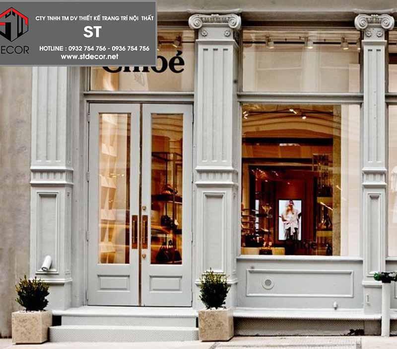 thiết kế cửaq shop thời trang cao cấp