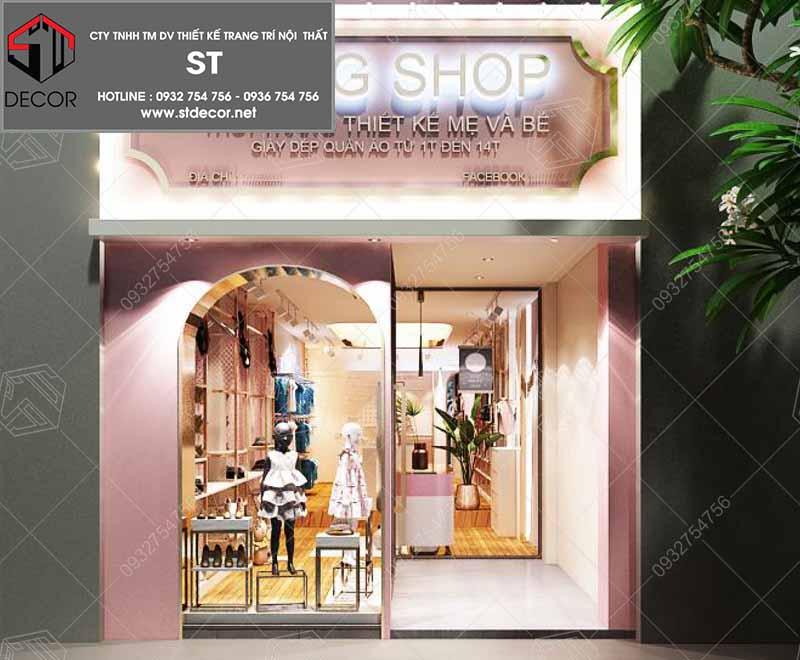 thiết kế cửa shop thời trang