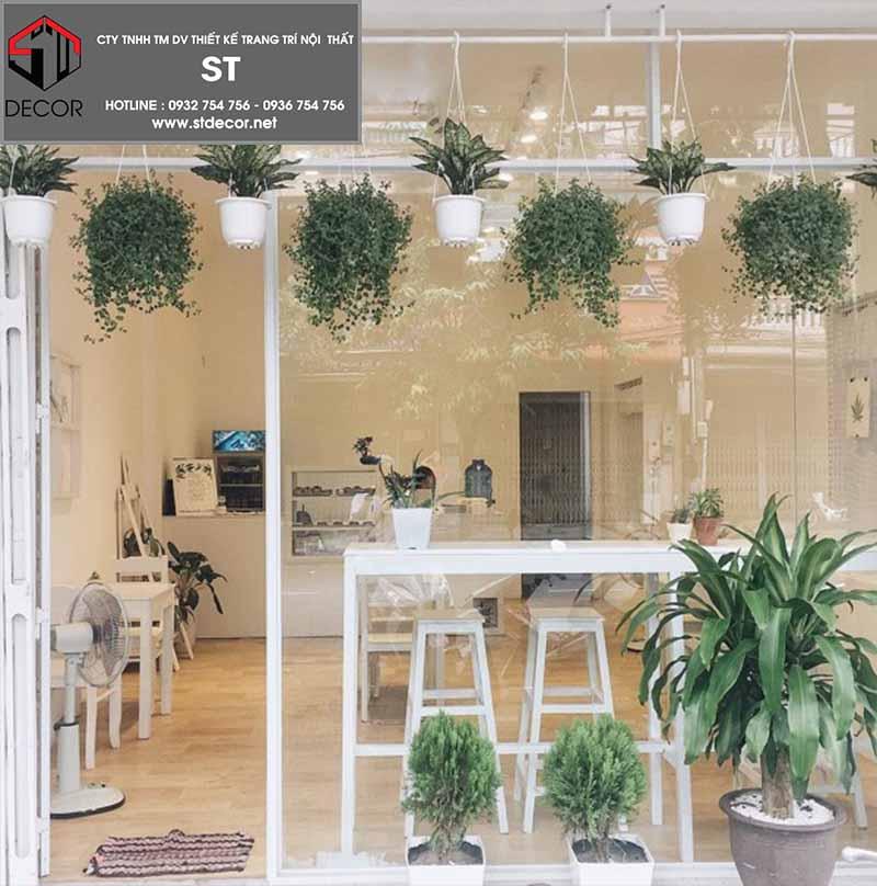 thiết kế quán cà phê không gian mở đệp