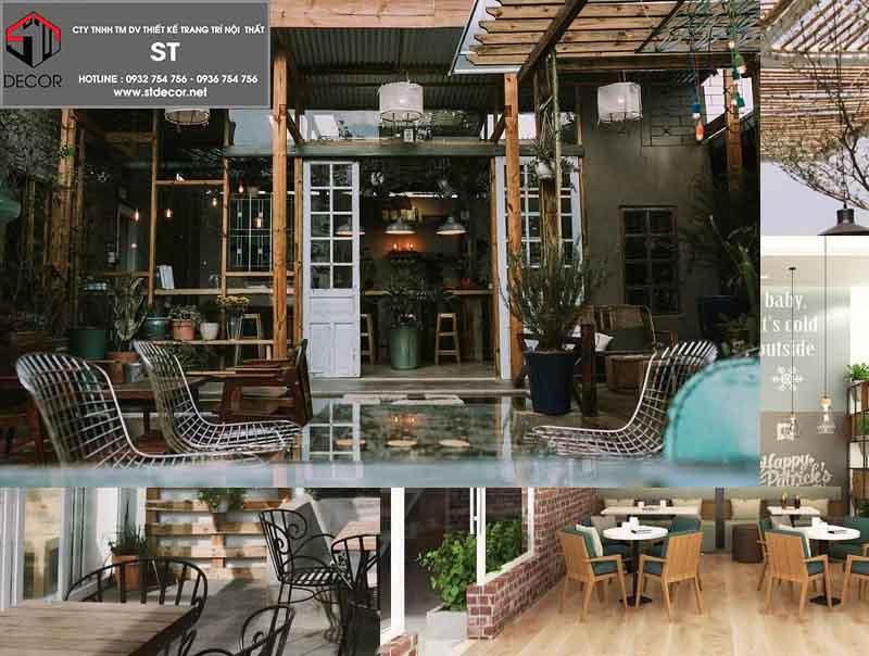 thiết kế quán cà phê phong cách mở