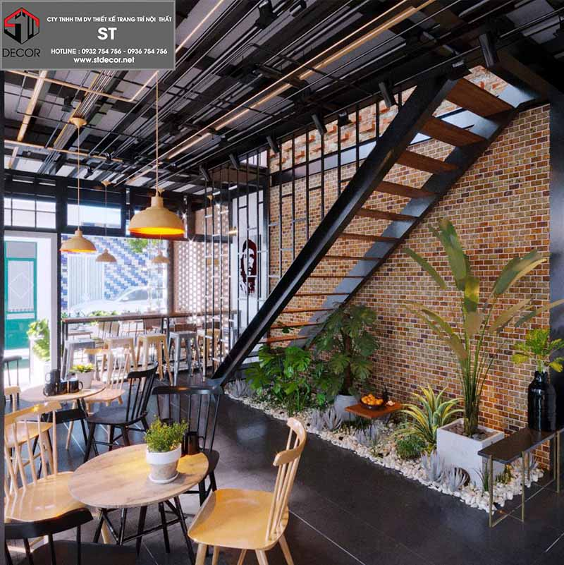 thiết kế quán cà phê không gian mở đẹp nhất