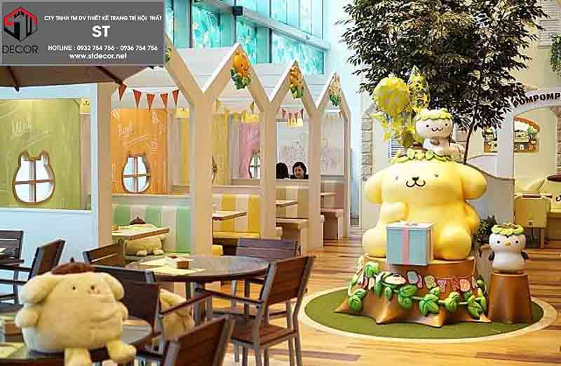 thiết kế quán cà phê kem