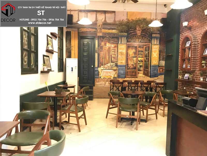 thiết kế quán cà phê kết hợp nhà ở đẹp