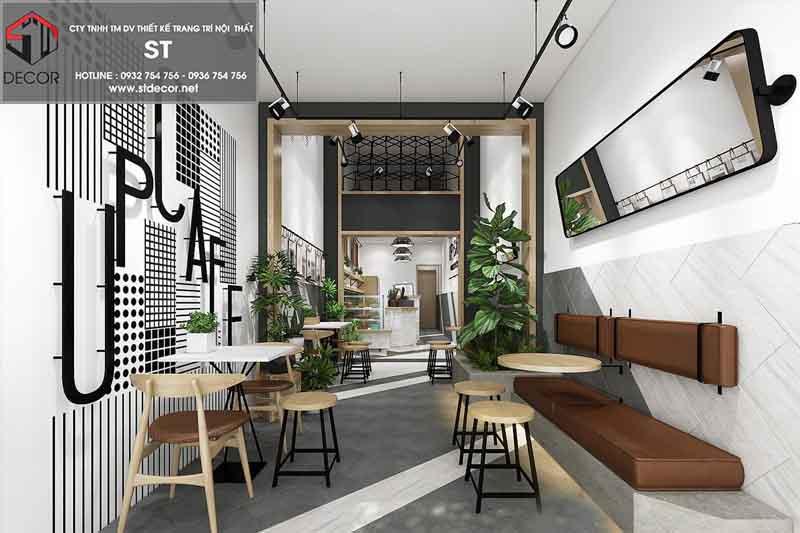 thiết kế quán cà phê kết hơp nhà ở