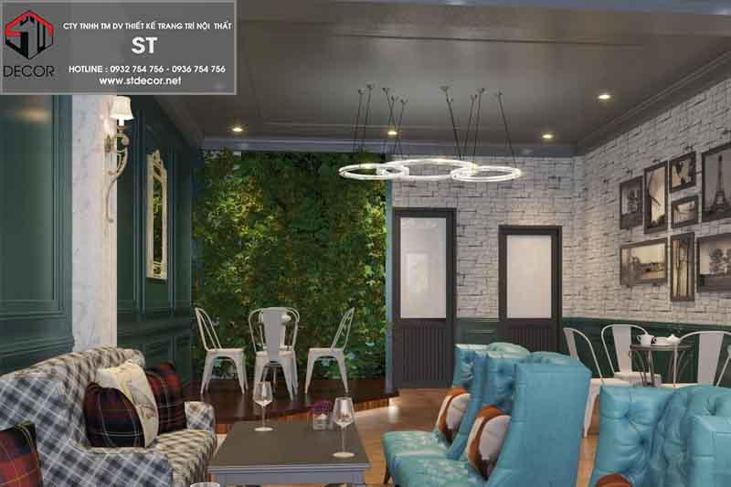 thiết kế quán cà phê kết hợp nhà ở diện tích nhỏ
