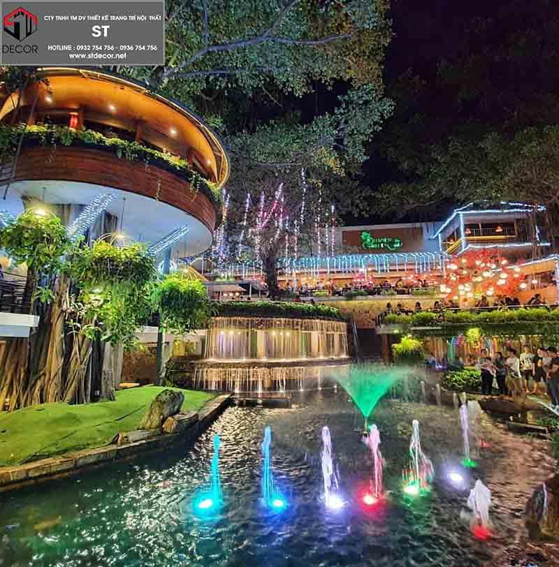 thiết kế quán cà phê sân vườn đẹp