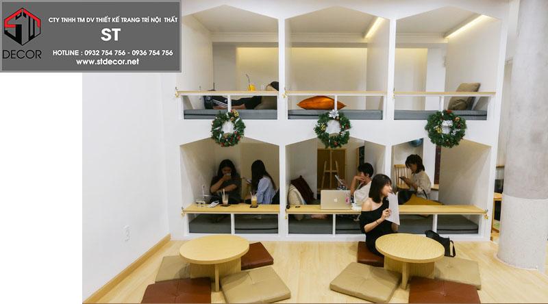 thiết kế quán cà phê kiểu nhật