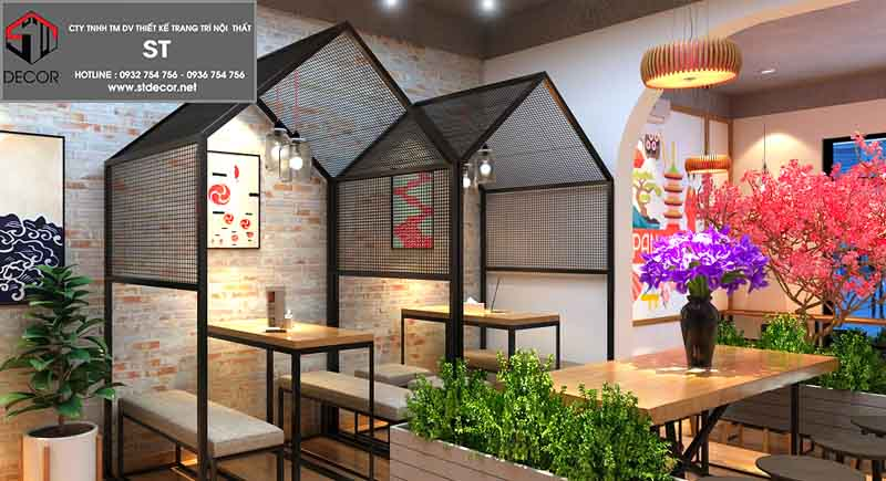 cách thiết kế quán cafe kiểu nhật