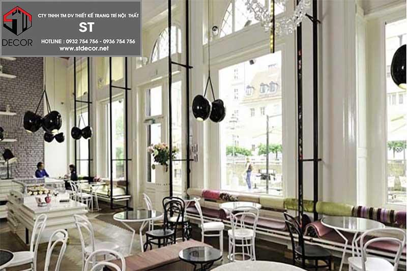 thiết kế quán cafe phong cách châu âu