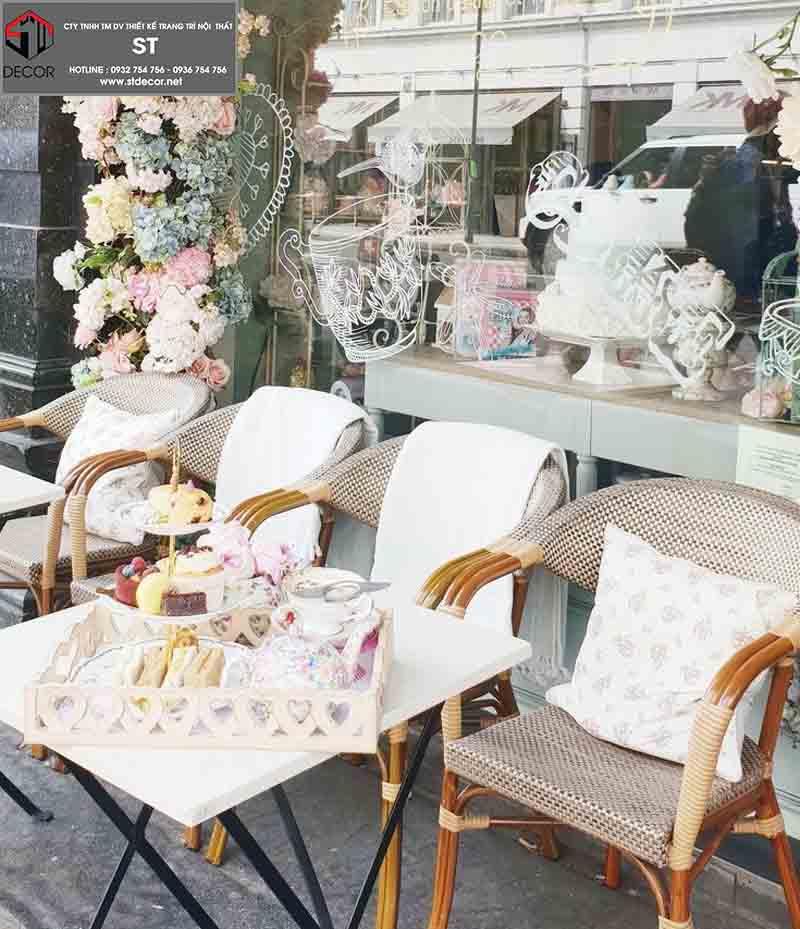 thiết kế quán cafe phong cách chau âu