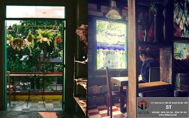 thiết kế quán cafe phong cách hoài cổ đẹp