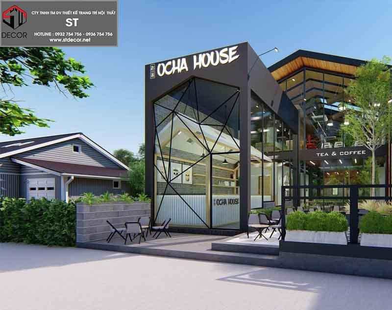 thiết kế quán cafe tiền chết