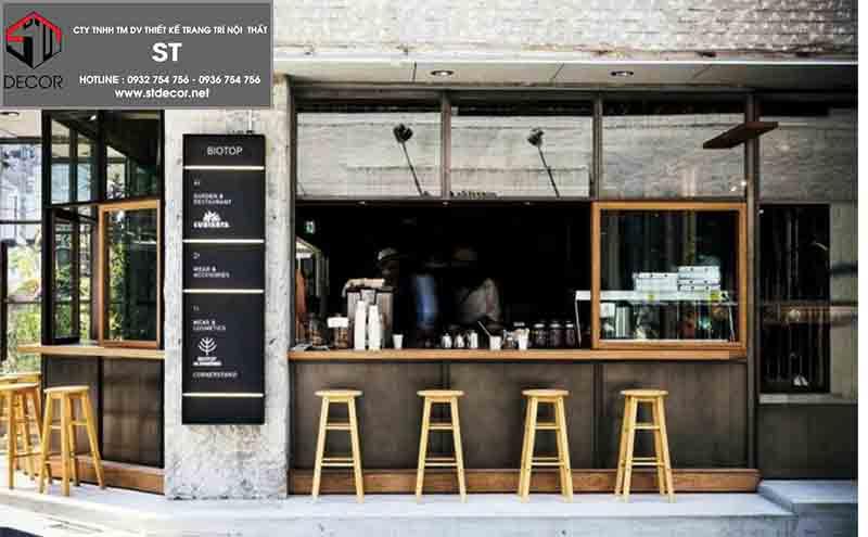 thiết kế quán trà sữa take away