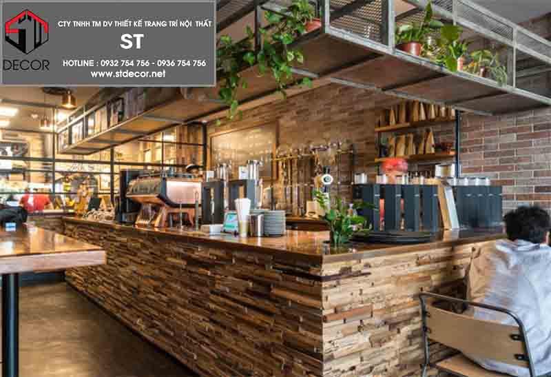 thiết kế quầy bar quán cafe nhỏ