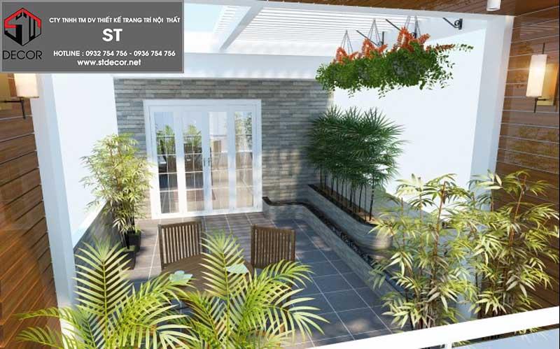 thiết kế sân thượng đẹp cho nhà phố