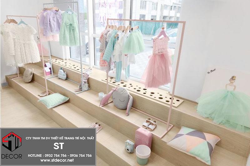 thiết kế shop thời trang cho bé đẹp