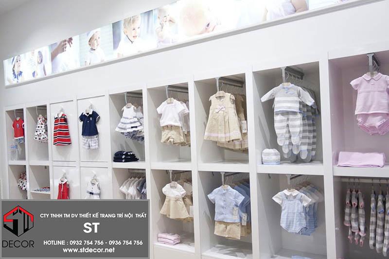 thiết kế shop thời trang cho bé