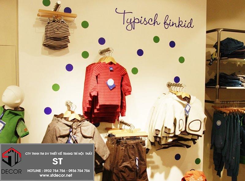thiết kế shop thời trang trẻ em đẹp nhất