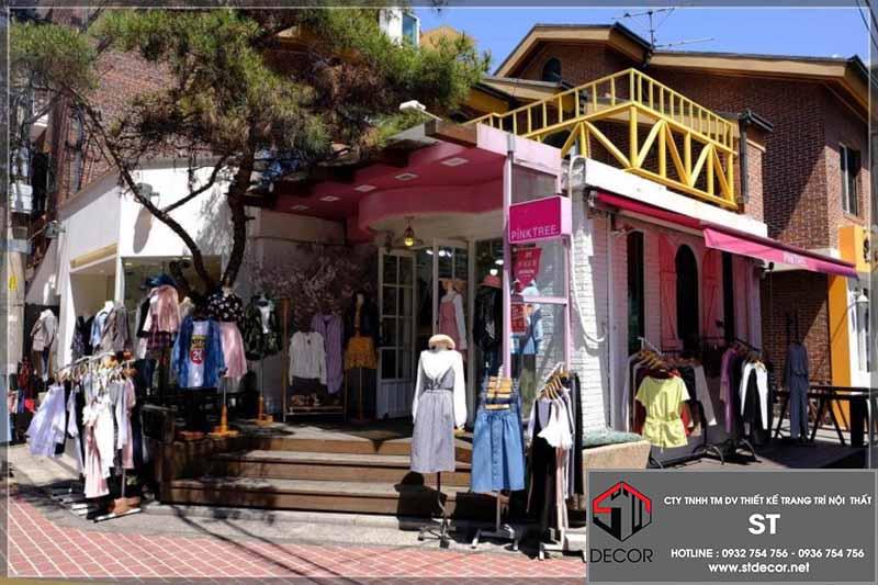 thiết kế shop thời trang hàn quốc