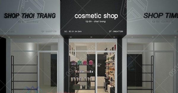 trang trí cửa hàng mỹ phẩm diện tích nhỏ