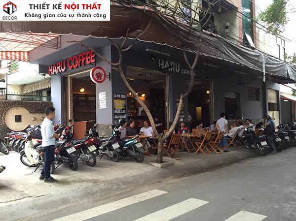Trang trí mặt tiền quán cafe