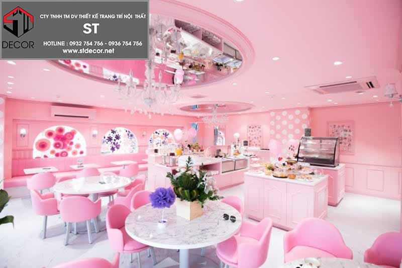 trang trí quán trà sữa dễ thương