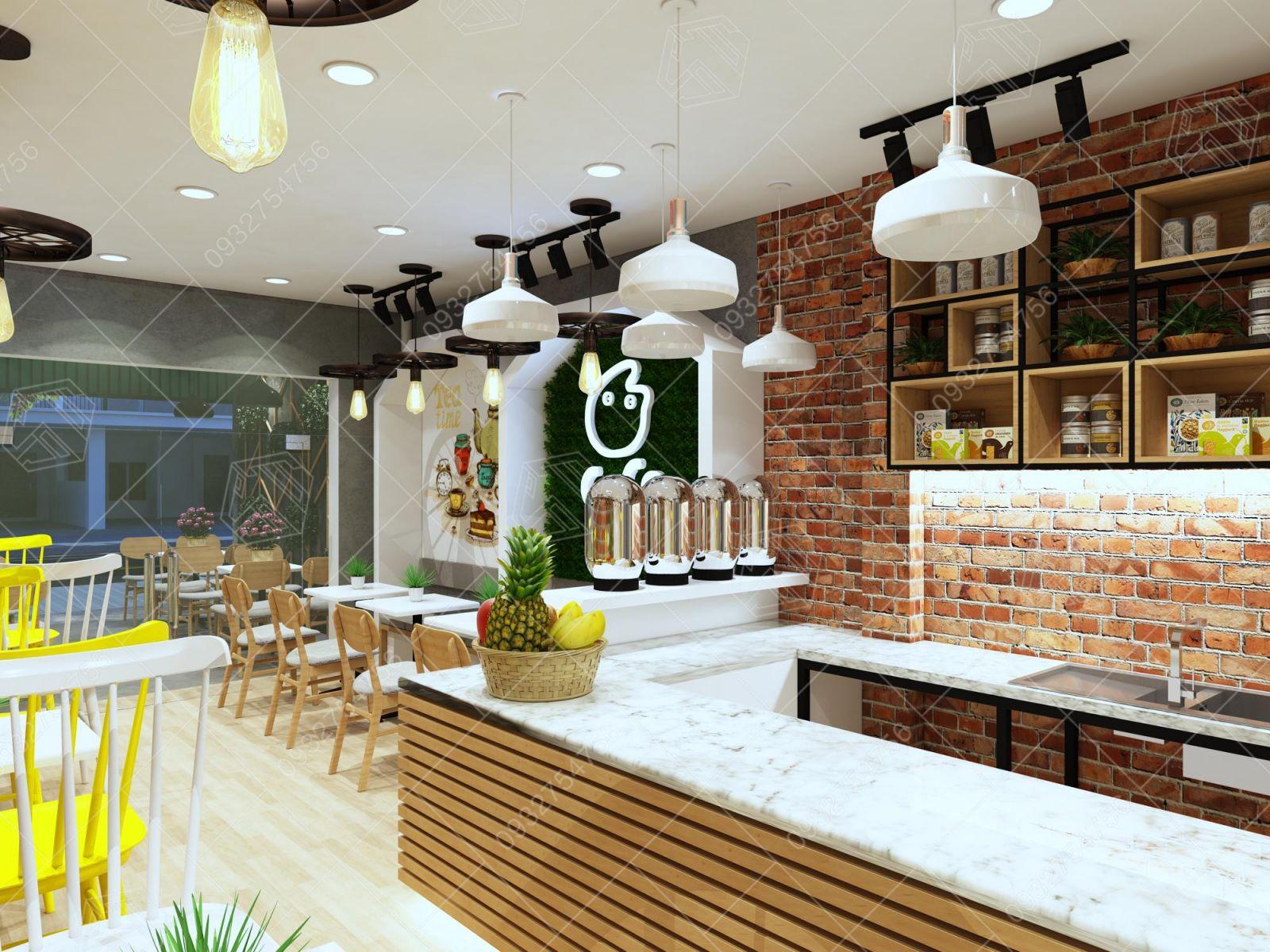 Thiết kế quán trà sữa tại Củ Chi, Tp Hồ Chí Minh