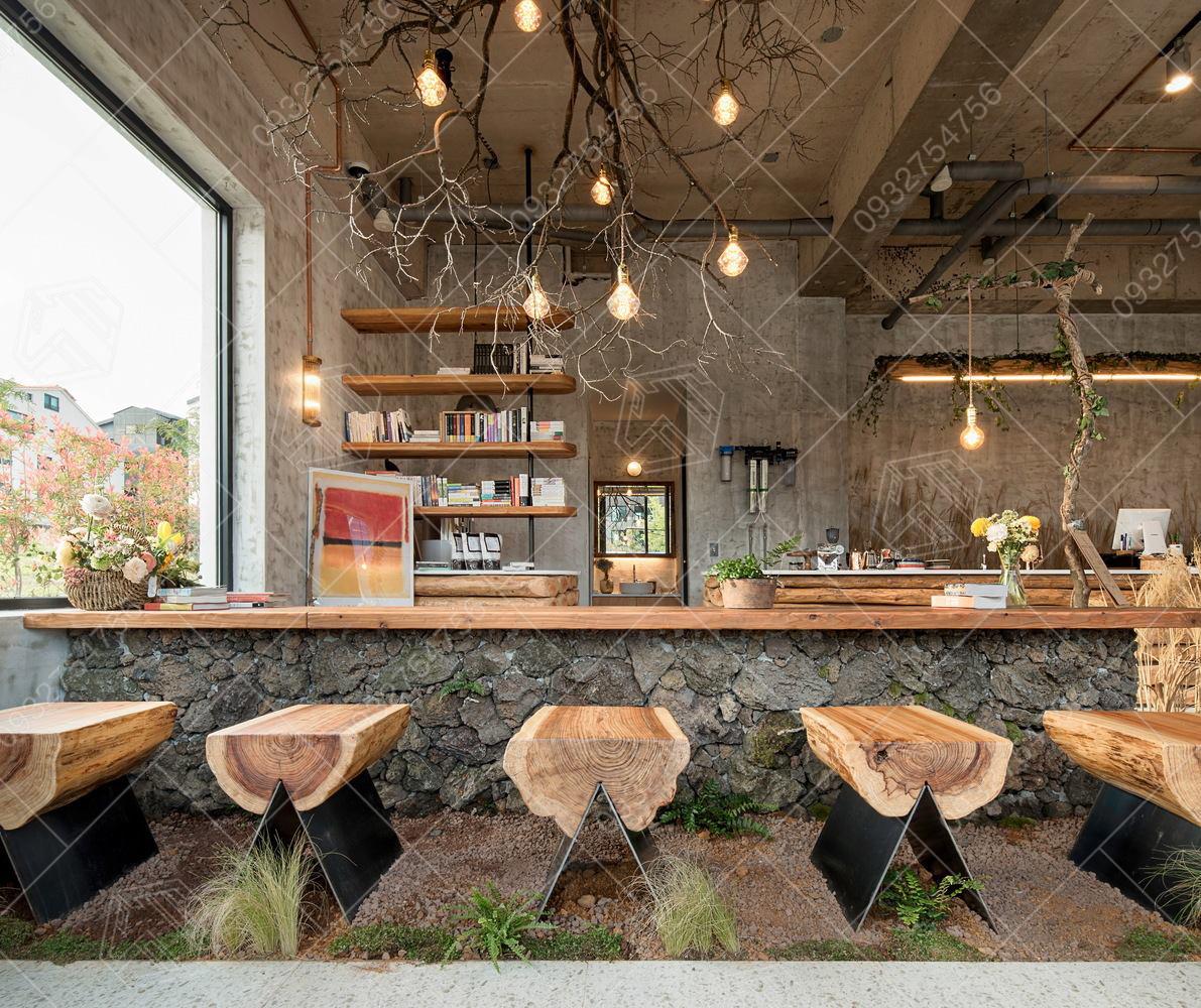 Thiết kế quán trà sữa tại Đà Lạt, Lâm Đồng.